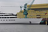 Azzam yacht launch in Bremen