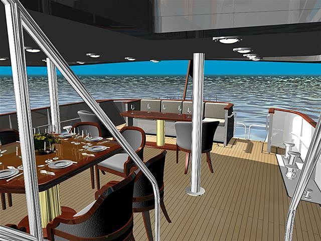 Valeria yacht deck render