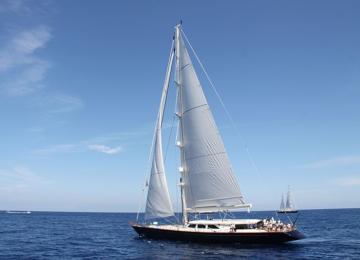 Heritage yacht during the Perini Navi Cup 2013