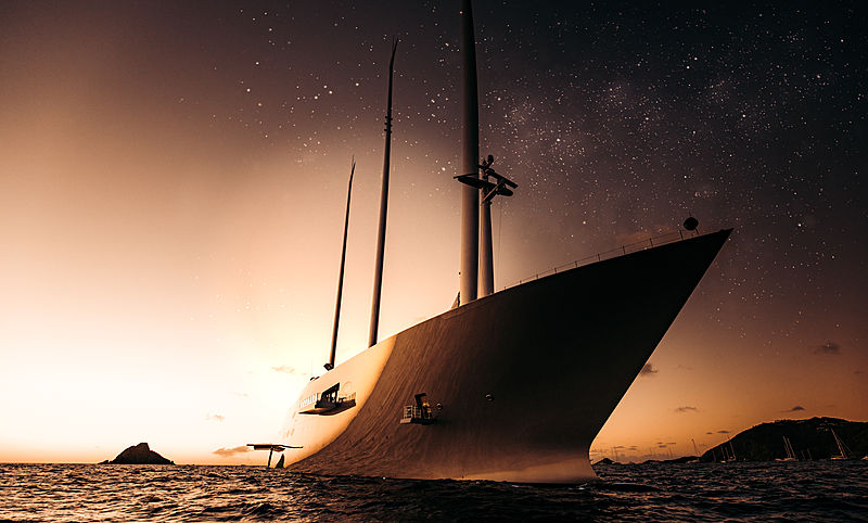 Sailing Yacht A in Gustavia