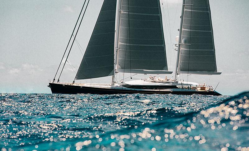Q sailing yacht in St Barths