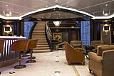 Kismet yacht bar in the saloon