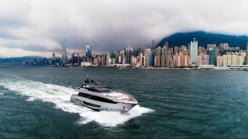 Bernatte cruising off Hong Kong