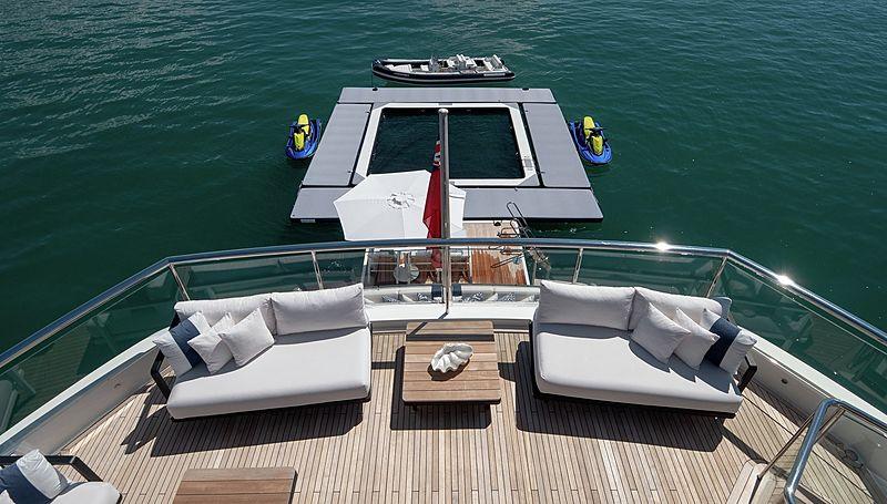 Odyssey superyacht beach club