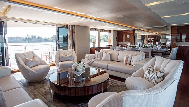 Odyssey superyacht by Princess saloon