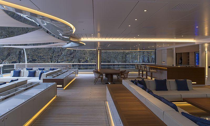 Flying Fox yacht upper aft deck