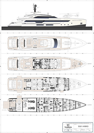 Bintador yacht general arrangment