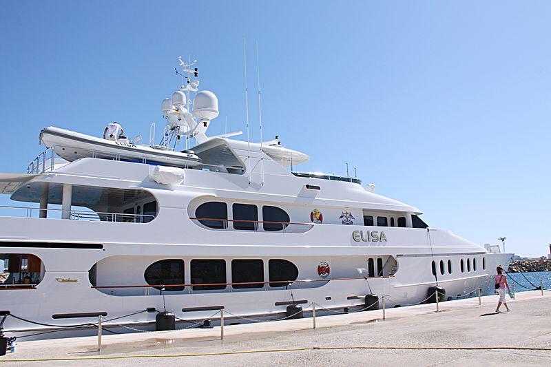Elisa yacht at shipyard