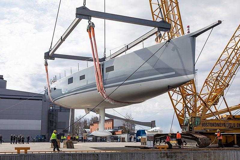 Liara sailing yacht launch at Baltic Yachts