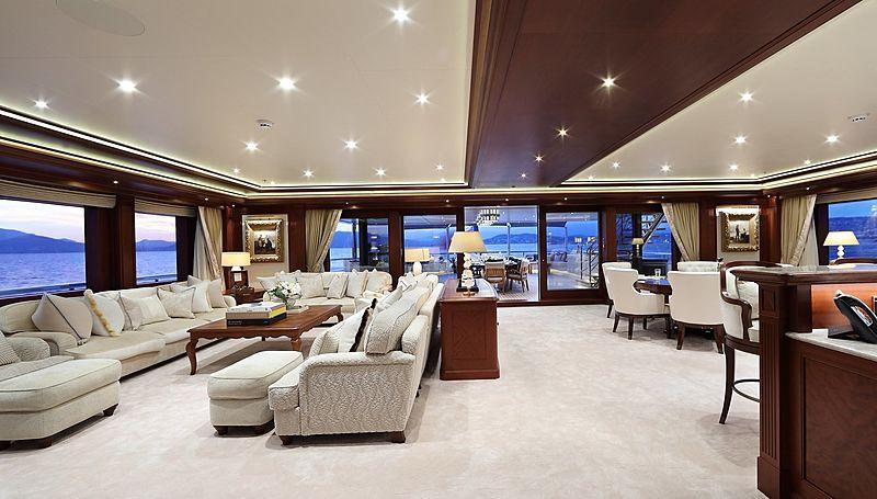 Areti yacht saloon