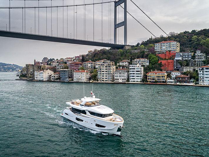 Numarine 26XP/03 cruising on the Bosporus