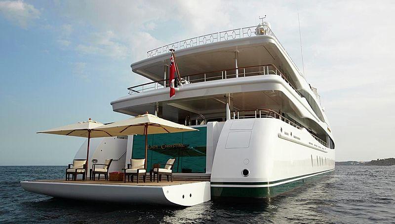 Lady Christine yacht stern