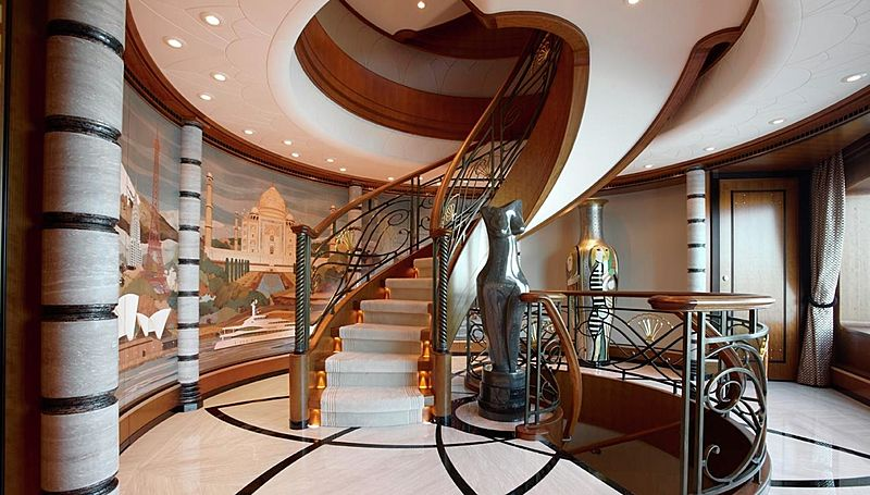 Lady Christine yacht staircase