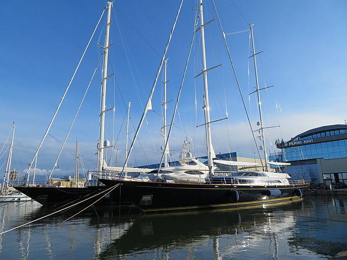 Morning glory sailing yacht in Viareggio
