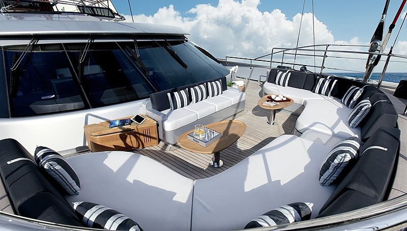 Seahawk yacht seating area