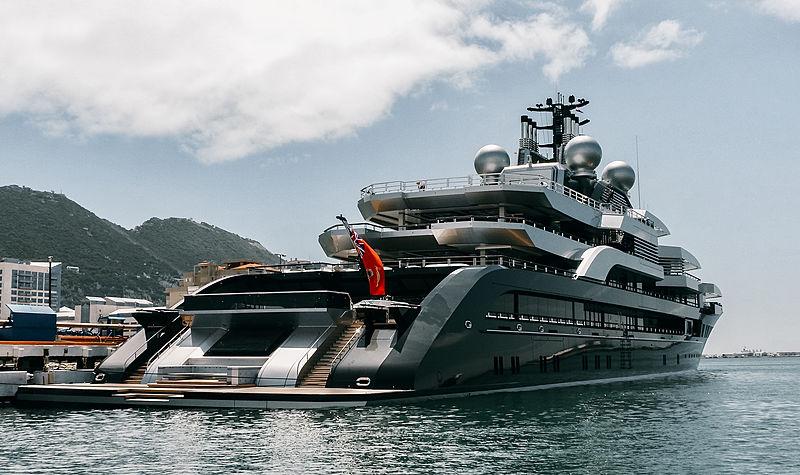Crescent yacht by Lürssen in Gibraltar