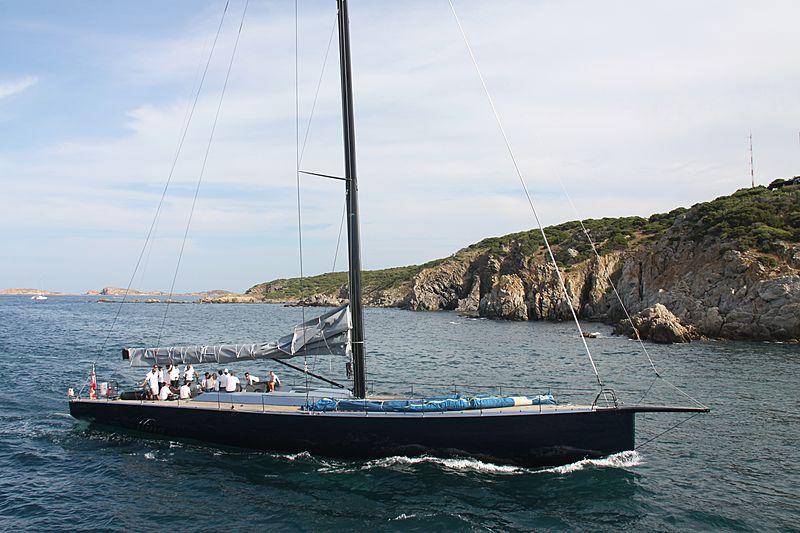 Highland Fling yacht XI arriving in Porto Cervo