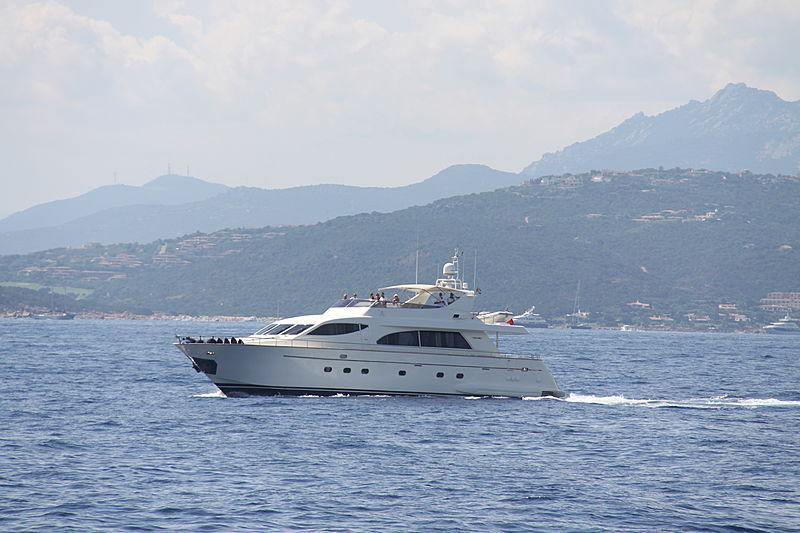 Pekatoo yacht cruising off Porto Cervo