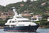 Mary A yacht leaving Porto Cervo