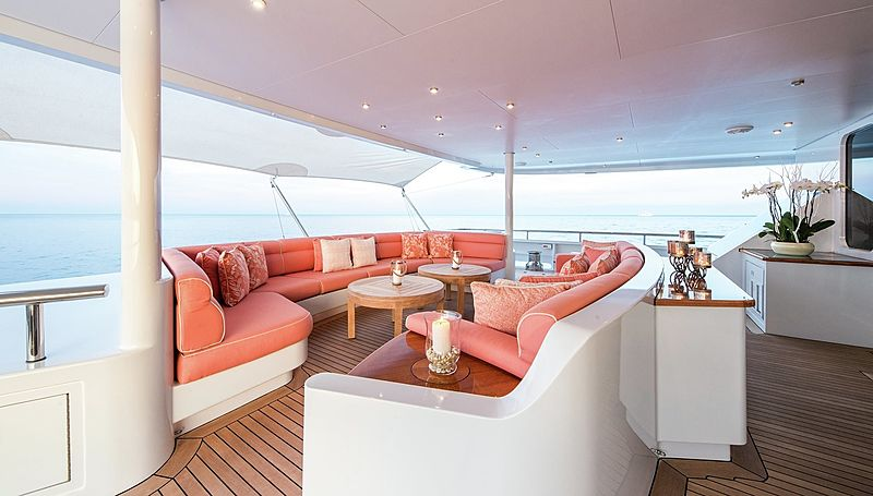 Lady Sheridan yacht deck