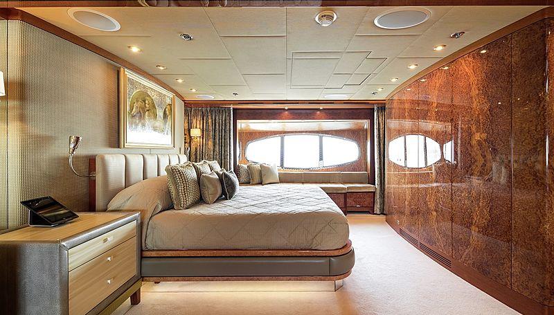 Lady Sheridan yacht stateroom