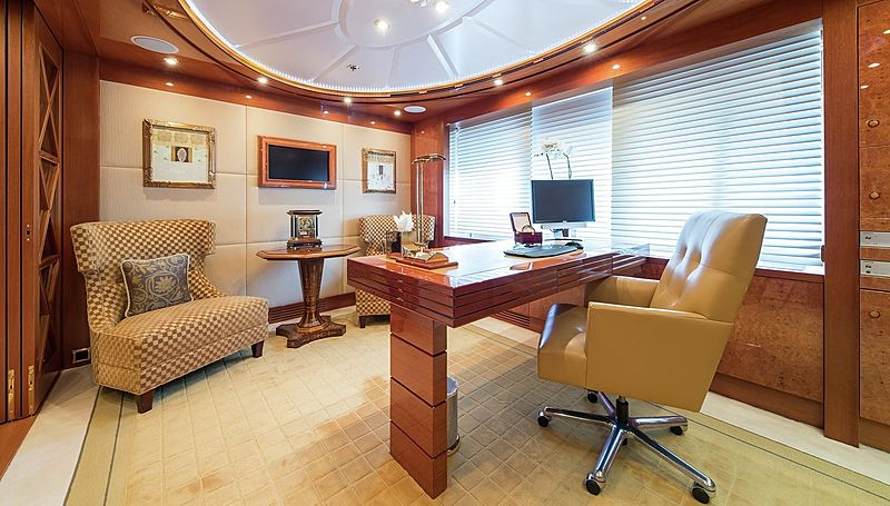Lady Sheridan yacht study room
