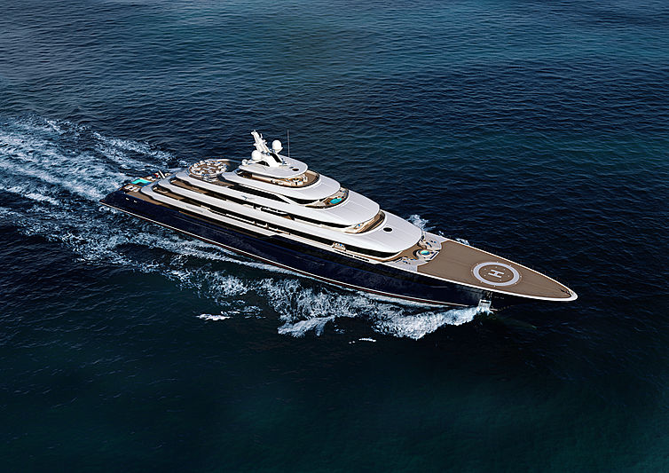 The Columbus Classic 120m yacht rendering
