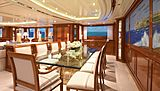 Lady Michelle yacht dining room
