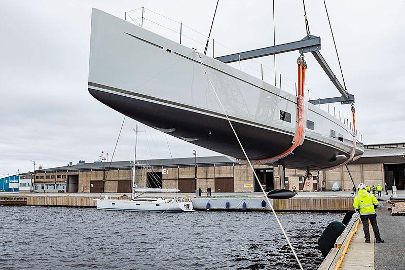 Canova yacht launch at Baltic Yachts