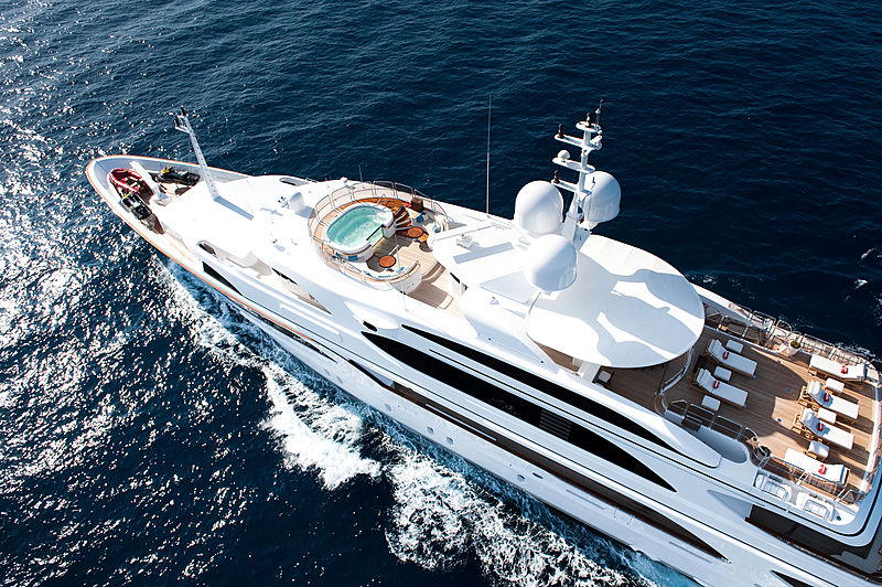 Iman yacht cruising