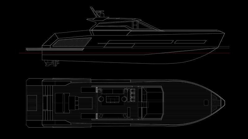Mazu 82/01 yacht general arrangement