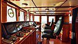 Steel yacht interior