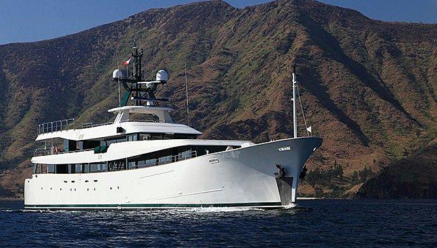 Ark Angel yacht anchored