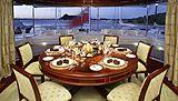 Emelina yacht dining room