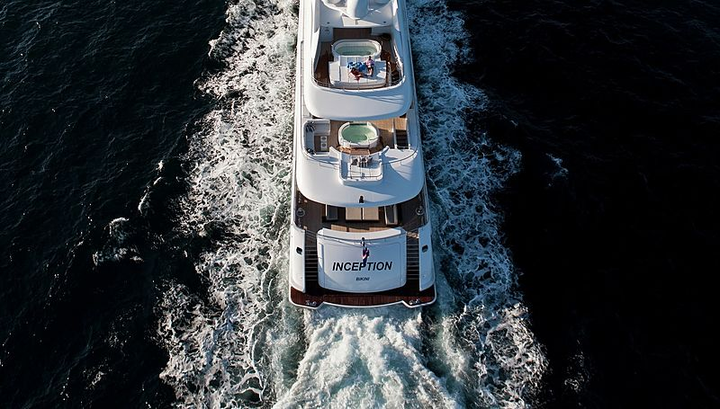 Inception yacht cruising