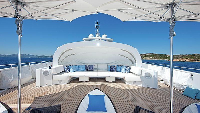 Inception yacht deck