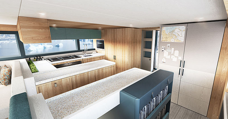 Arksen 85 adventure yacht interior