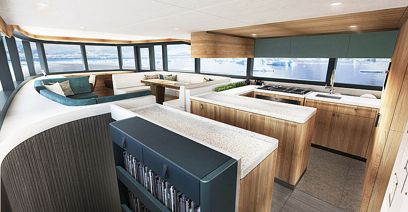 Arksen 85 adventure yacht interior