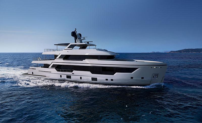 Rosetti 38m Explorer yacht rendering