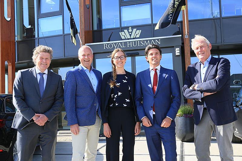 Contract signing at Royal Huisman Zaandam