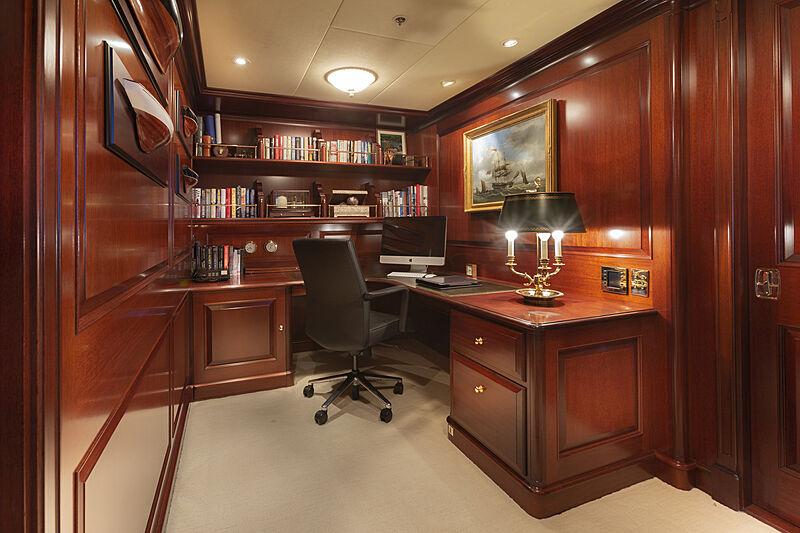 Mary A yacht study room