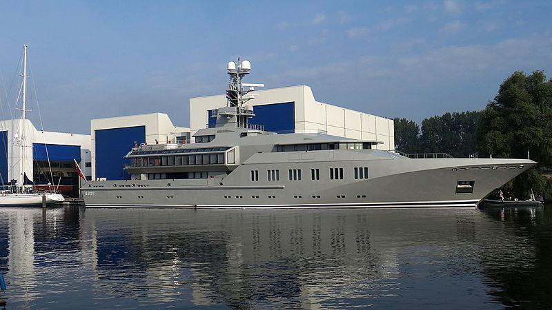 Skat at the Royal Huisman shipyard in Zaandam rendering