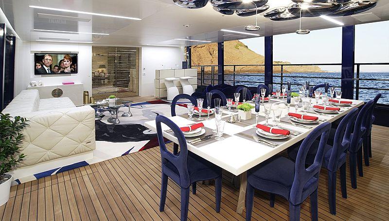 Blade yacht deck
