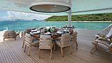 Muchos Mas yacht aft deck