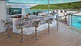 Muchos Mas yacht sundeck bar