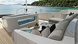 Muchos Mas yacht bow seating area