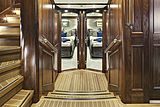 Encore yacht hall and staircase