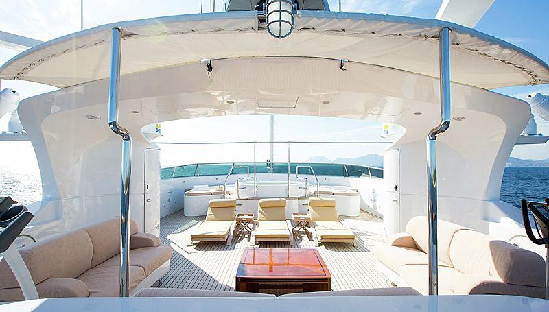 Lighea yacht sundeck