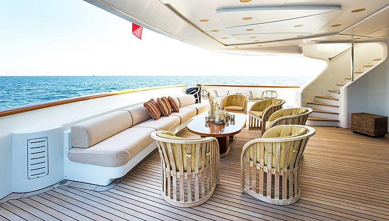Lighea yacht aft deck