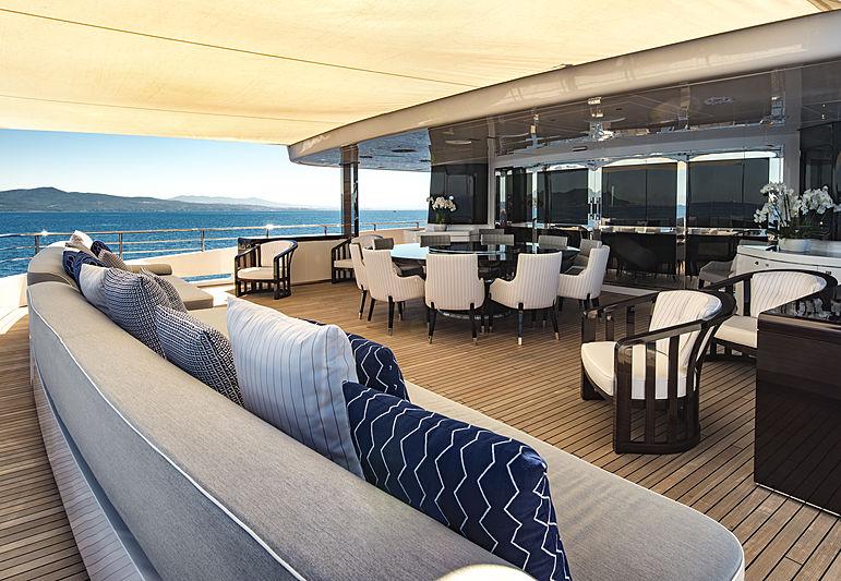 Rarity yacht deck
